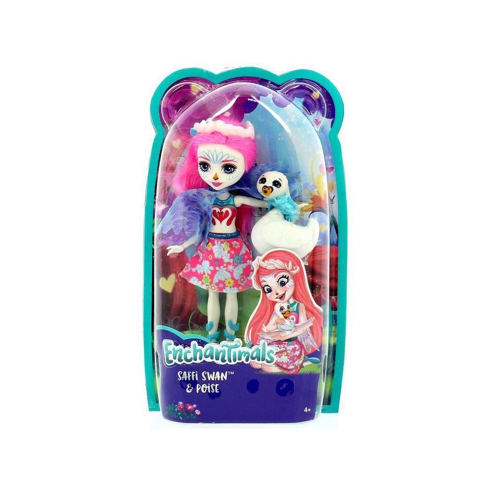 Enchantimals. Кукла с любимым питомцем, SAFFI SWAN™&POISE (FRH38-FNH22)