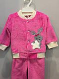Махровый костюм для девочки с зайчиком, фото 2