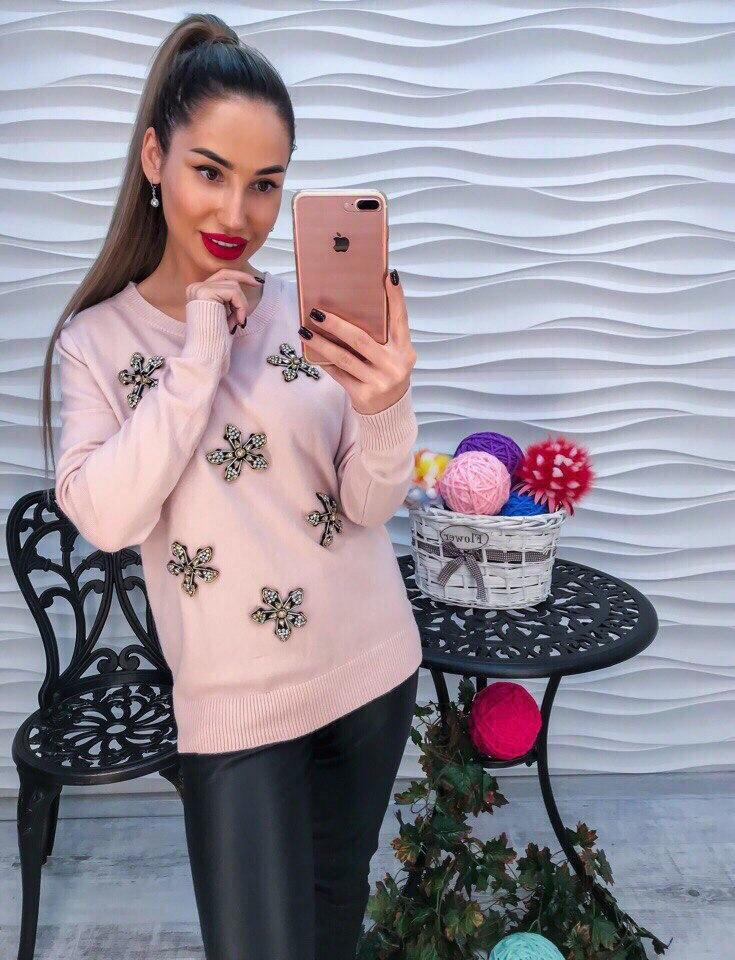 Женский модный свитер РАЗНЫЕ ЦВЕТА(Фабричный Китай ) Код 193