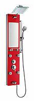 Душевая гидромассажная панель Golston - G-616351R  (красная), 1300х300х70 мм