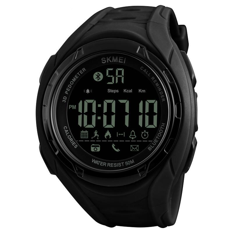 Skmei 1316  turbo черные мужские спортивные смарт часы