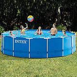 Каркасный бассейн Intex 28242, (457 x 122 см) (Картриджный фильтр-насос 3 785 л/ч, лестница, тент, подстилка), фото 4