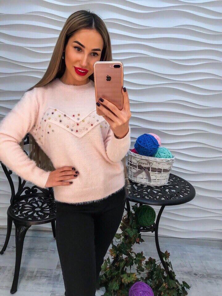 Женский стильный свитер РАЗНЫЕ ЦВЕТА(Фабричный Китай ) Код 209