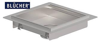 Кухонний канал BLUCHER з фланцем, нержавіюча сталь, 400x400 мм, DN110, арт. 664FH004-15