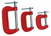 Набор: струбцины G-образные, 3 шт, 25-50-75 мм.Technics 43-636