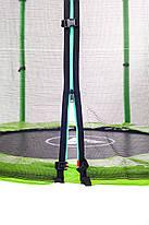 Батут Atleto 140 см с сеткой зеленый, фото 3