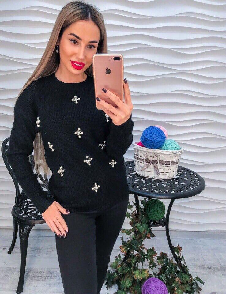 Женский нарядный свитер РАЗНЫЕ ЦВЕТА(Фабричный Китай ) Код 202