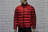 Мужская стеганая куртка Nike красная с воротником стойка топ реплика