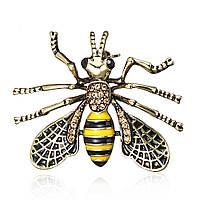 6c4faa1d93d1 Брошь унисекс BROCHE бижутерия Винтаж Насекомые Пчела BR110709
