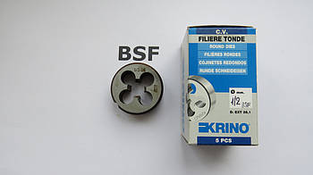 Плашка дюймова BSF 1\2 16 ниток на дюйм KRINO