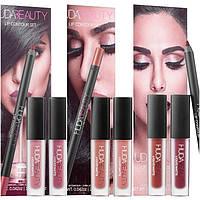 Набор для губ Huda Beauty Lip Contour Set Карандаш (1,2г)Помада (2х1,9мл), фото 1