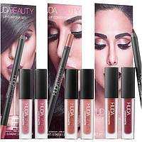 Набор для губ Huda Beauty Lip Contour Set Карандаш (1,2г)Помада (2х1,9мл)