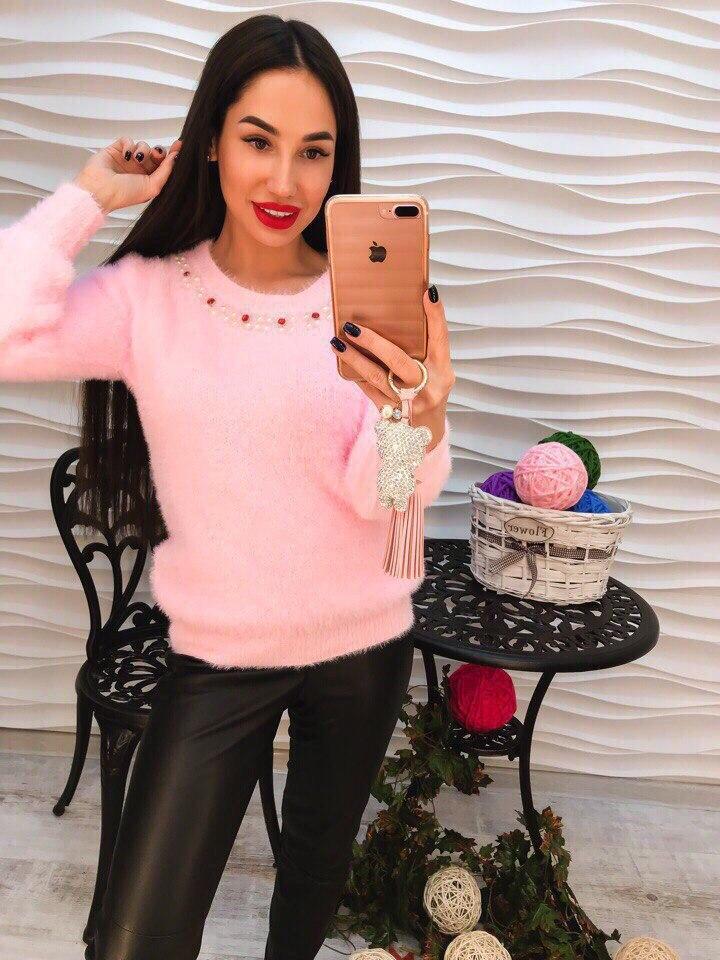 Женский мягкий свитер РАЗНЫЕ ЦВЕТА(Фабричный Китай ) Код 267