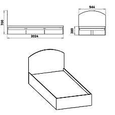 Односпальная кровать-90, фото 2