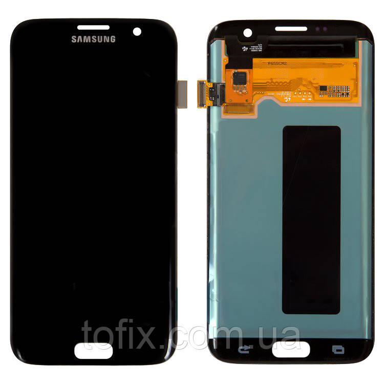 Дисплей для Samsung G935 Galaxy S7 EDGE, модуль в зборі (екран і сенсор), черный, оригінал