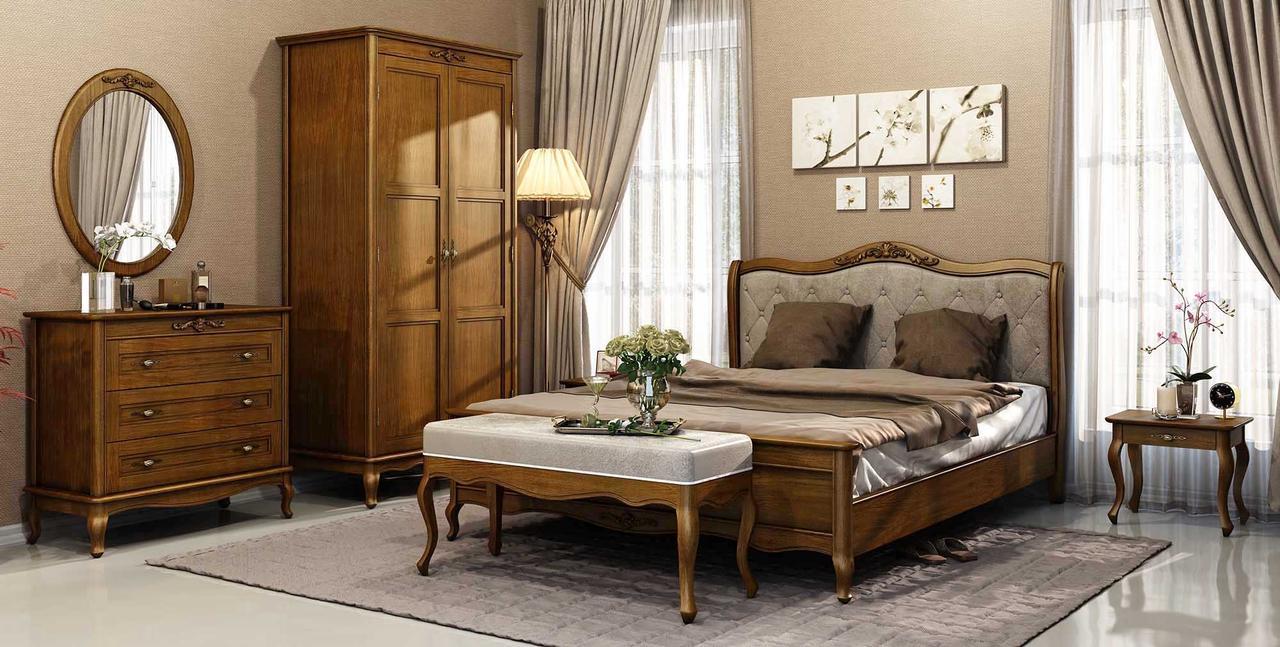 Спальня 3 Палермо Мебус темная