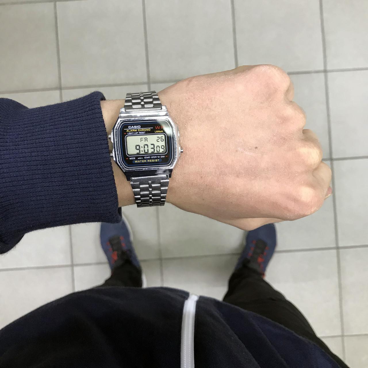 aec736f4cfed Наручные часы Casio A168WA-1YES серебро (копия)