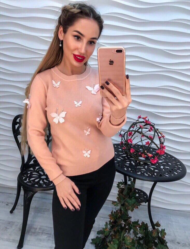 Женский стильный свитер РАЗНЫЕ ЦВЕТА(Фабричный Китай ) Код 150