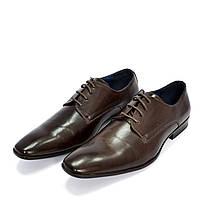 Туфли дерби мужские коричневые Enzo Marconi размер 43 6793a97b0f110