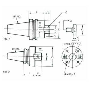 BT40-FMB32-100L(MAS403)  Патрон фрезерный, фото 2