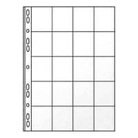 Файл для монет Panta Plast 0312-0005-00 А4 20 секций 45*45 мм 1 лист