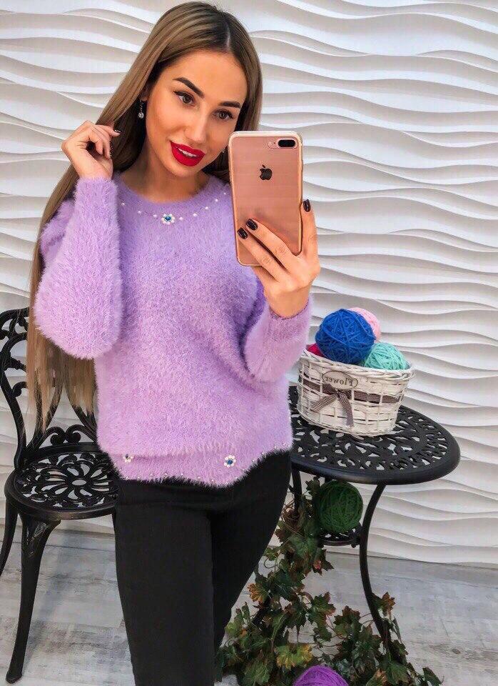 Женский мягкий свитер РАЗНЫЕ ЦВЕТА(Фабричный Китай ) Код 199