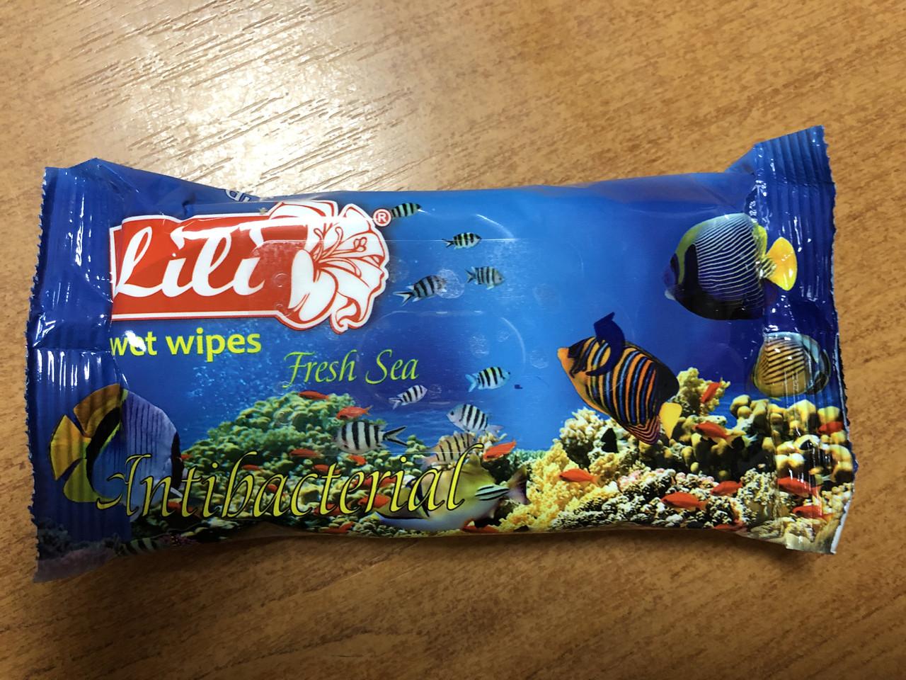 Влажные салфетки Lili ''Море'', 15 шт