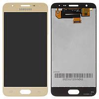 Дисплейный модуль (дисплей и сенсор) для Samsung Galaxy On5 (2016) G570, золотистый, оригинал