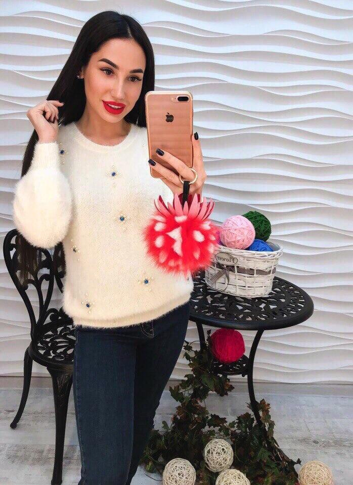 Женский модный свитер РАЗНЫЕ ЦВЕТА(Фабричный Китай ) Код 260