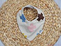 Детский нагрудник для кормления, плюсики, фото 1