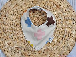 Детский нагрудник для кормления, плюсики