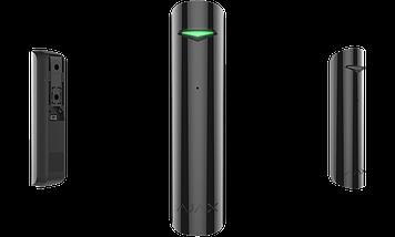 Бездротовий датчик розбиття скла Ajax GlassProtect black