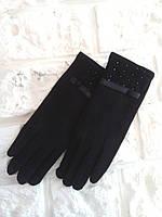 """Шикарные женские зимние перчатки на меху """"Santa"""", фото 1"""