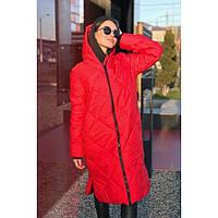 Пальто зимнее  женское с капюшоном теплое 300-3