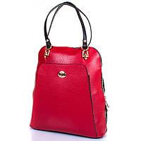 Женская кожаная сумка-рюкзак DESISAN Красная (SHI3132-4)