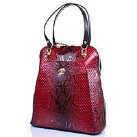 Женская кожаная сумка-рюкзак DESISAN Красная (SHI3132-500)