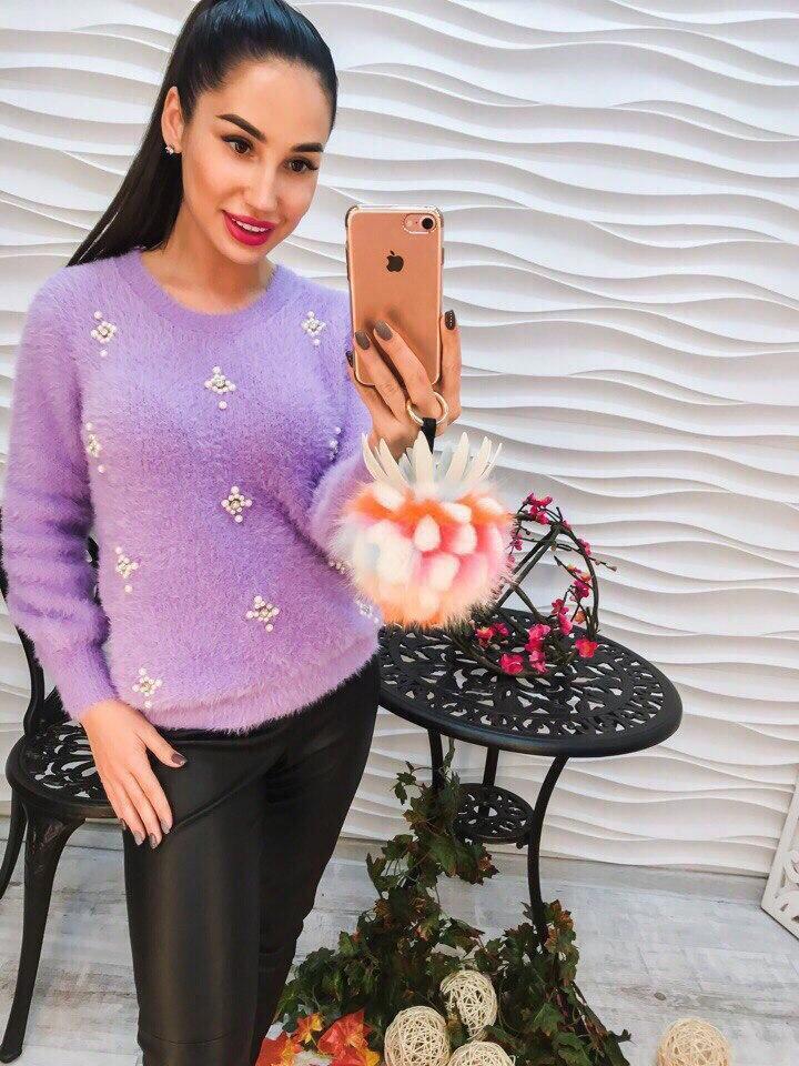 Женский элегантный свитер РАЗНЫЕ ЦВЕТА(Фабричный Китай ) Код 268
