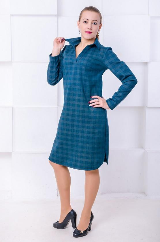 Платье поло Каролина малахит (44-50)