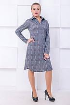 Платье поло Каролина графит (44-50)