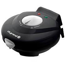 Вафельница электрическая VILgrand VW0754C 750 ВТ  + конус для рожков и мороженого /черная/