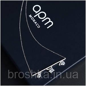 Подвеска с асимметричными кристаллами на цепочке бижутерия, фото 2