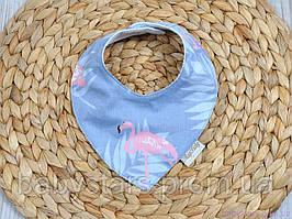Слюнявчики для кормления детей, фламинго