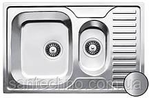 Прямоугольная кухонная мойка из нержавеющей стали  с фруктовницей Galati Petrika 1.5C Satin
