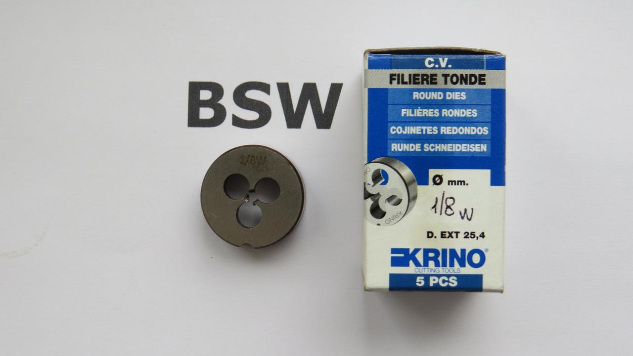 Плашка дюймовая BSW 1\8 40 ниток на дюйм KRINO