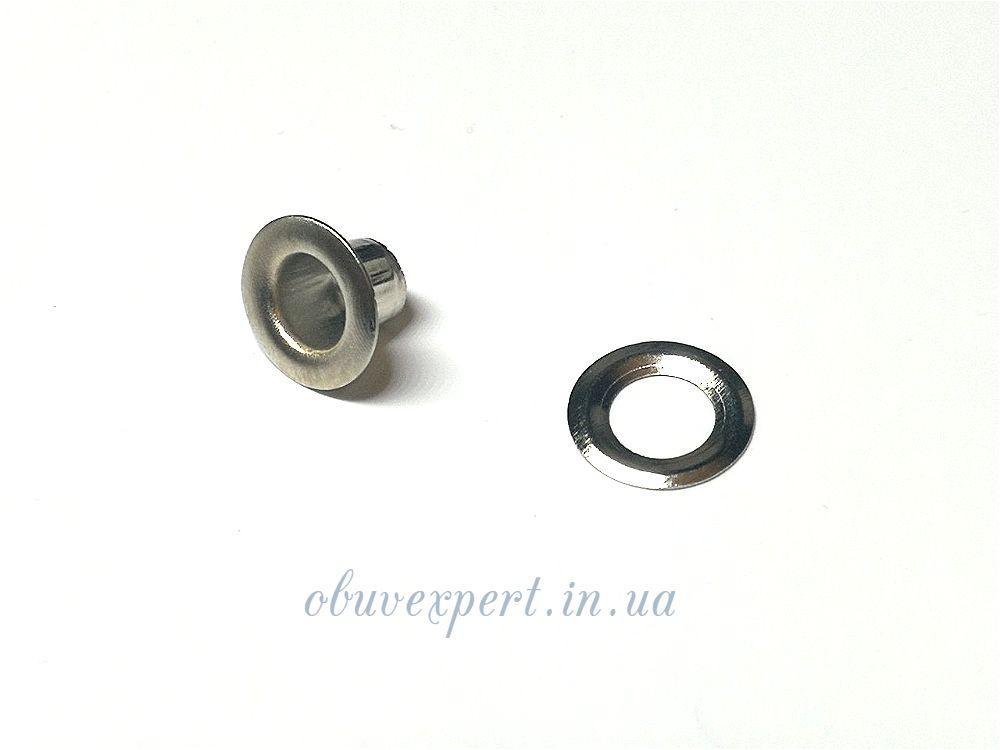 Люверс с шайбой 5 мм Никель, 10 шт