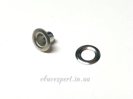 Люверс с шайбой 5 мм Никель, 10 шт, фото 2