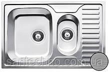 Прямоугольная кухонная мойка из нержавеющей стали  с фруктовницей Galati Petrika 1.5C Textura