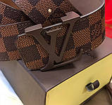 Пояс Louis Vuitton D2422 коричневый, фото 4