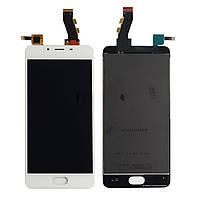 Экран + сенсор (модуль) для для Meizu U10 (U680H) белый оригинал PRC