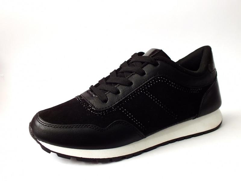 Женские кроссовки замшевые на низком ходу чёрного цвета 36-41р.
